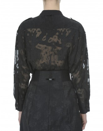 REPORTER: Camicia nera taglio laser camouflage