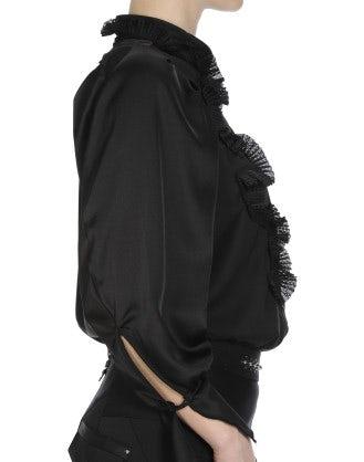 PHRASE: Camicia con balza asimmetrica