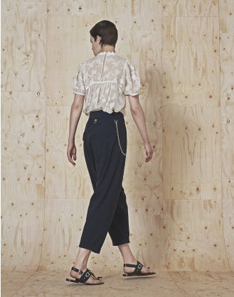 MURMUR: Short sleeve top with gathered neck