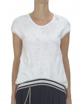 MUTE: Blusa in maglia tecnica, bianca