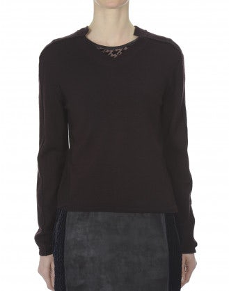 AVID: Mulberry button back knit