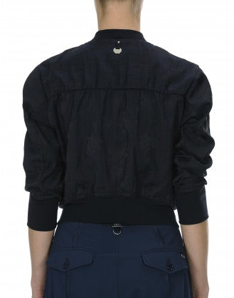 PRECEDE: Bomber style cropped jacket
