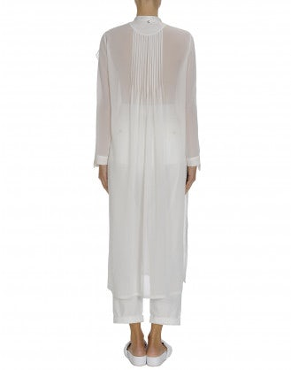 REGARD: Ivory tech georgette shirt tunic