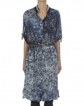 QUANTUM: Batwing print shirt dress