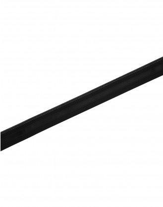 BE-PROUD: Cintura elastica nera con nastro in raso