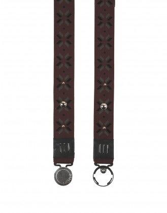 FRIEZE: Cintura elasticizzata borgogna con applicazioni