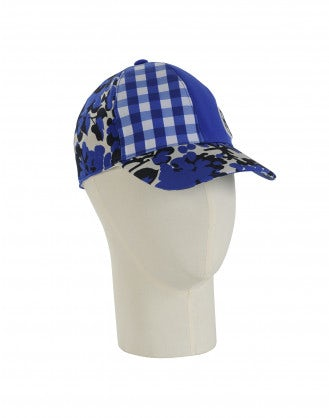 WATCH OUT: Blue check and floral baseball cap