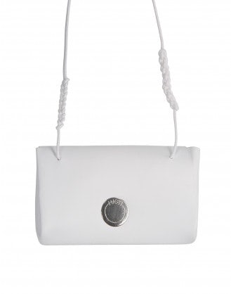 FORTUNE: White purse necklace