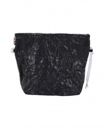 "CHARMING: ""Japanese"" print malleable pouch bag"