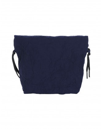 CHARMING: Navy malleable pouch bag