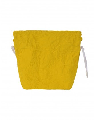 CHARMING: Yellow malleable pouch bag