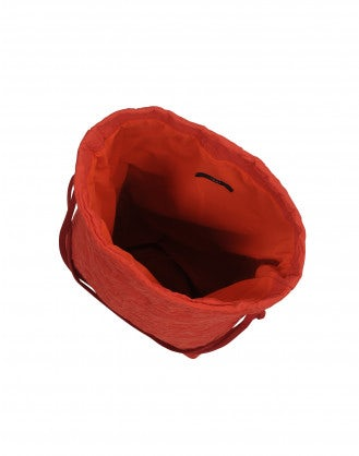 CHARMING: Red malleable pouch bag