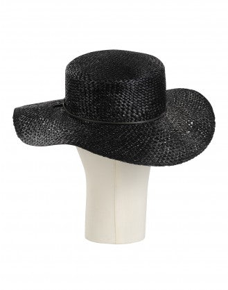 UPLIFTED: Black straw bolero hat
