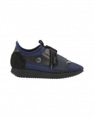 STEALTH: Sneakers in tessuto blu navy