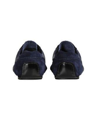 TROPEZ: Scarpe blu aperte sul davanti