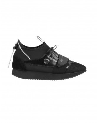 LAUNCH: Black technical fabric sneakers