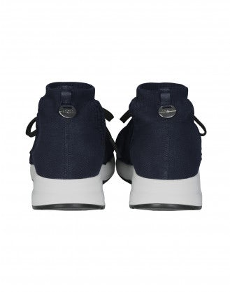 RADICAL: Navy technical knit sock sneaker