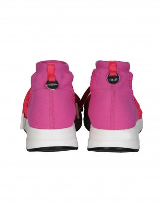 RADICAL: Pink technical knit sock sneaker