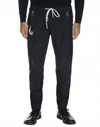 ENTRUST: Track pant in navy and pinstripe