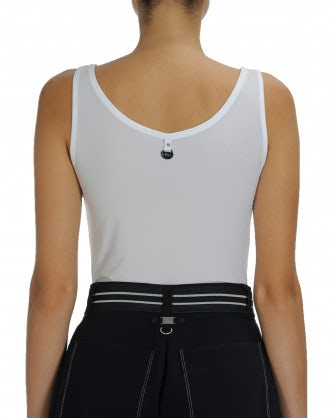 ION: White jersey vest top