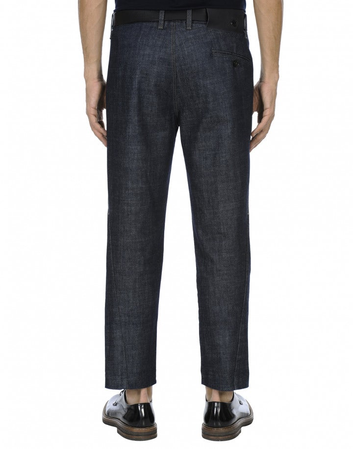 "HUBERT: Pantaloni ampi in denim ""clean rinse"""