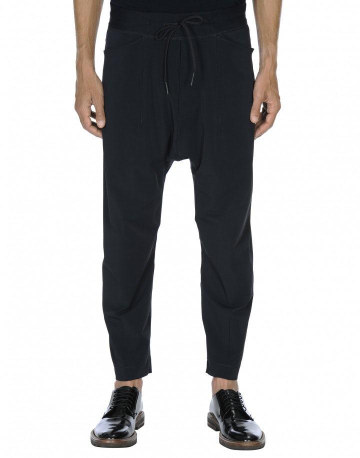 RAVEN: Pantalone jogging con cavallo basso blu navy