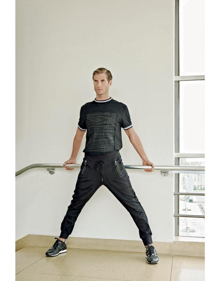 JACOB: Pantaloni sportivi neri con zip
