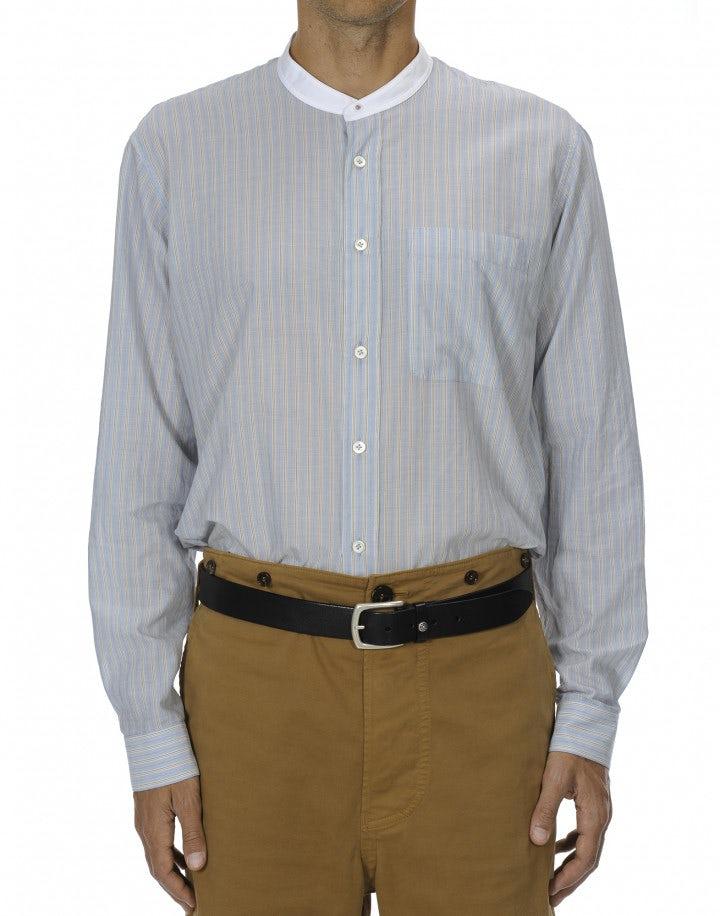 GLEN: Camicia in cotone spazzolato a righe