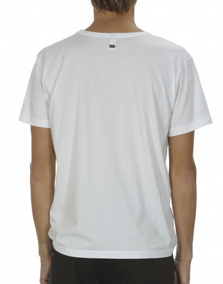 ANDERS: T-shirt bianca in jersey tecnico