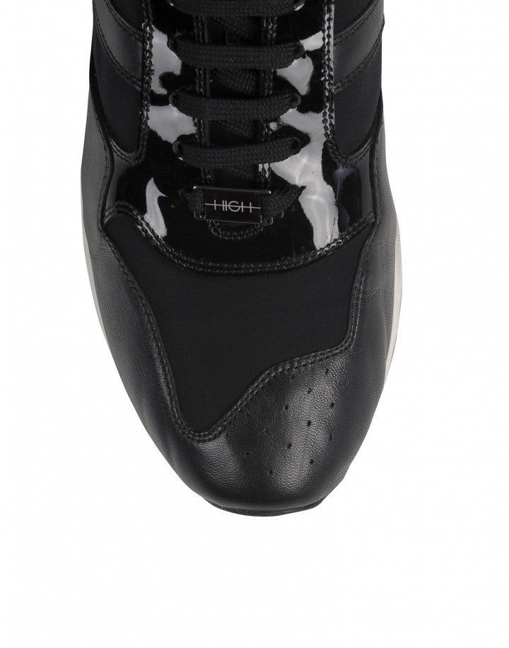 ERIK: Sneakers in pelle nera