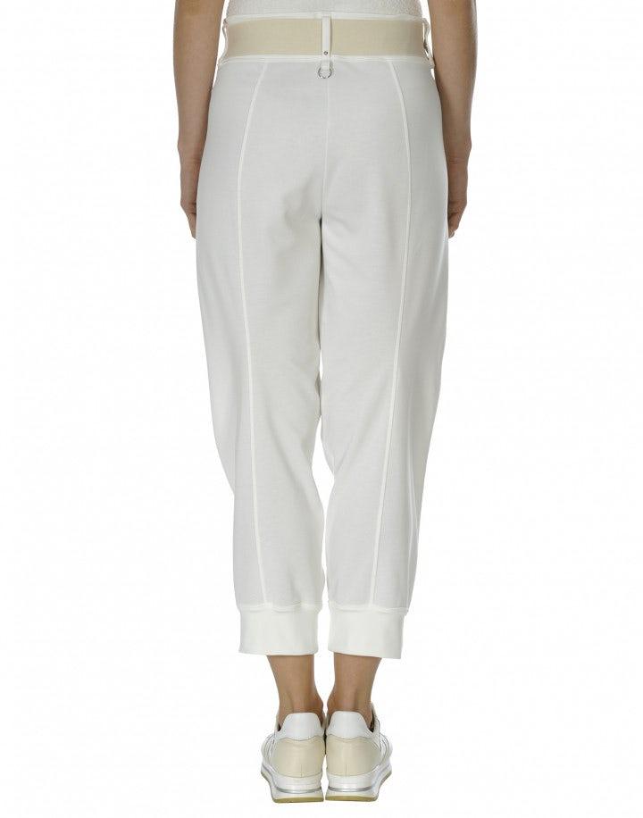 POUNCE: Pantaloni bianchi sportivi con cintura