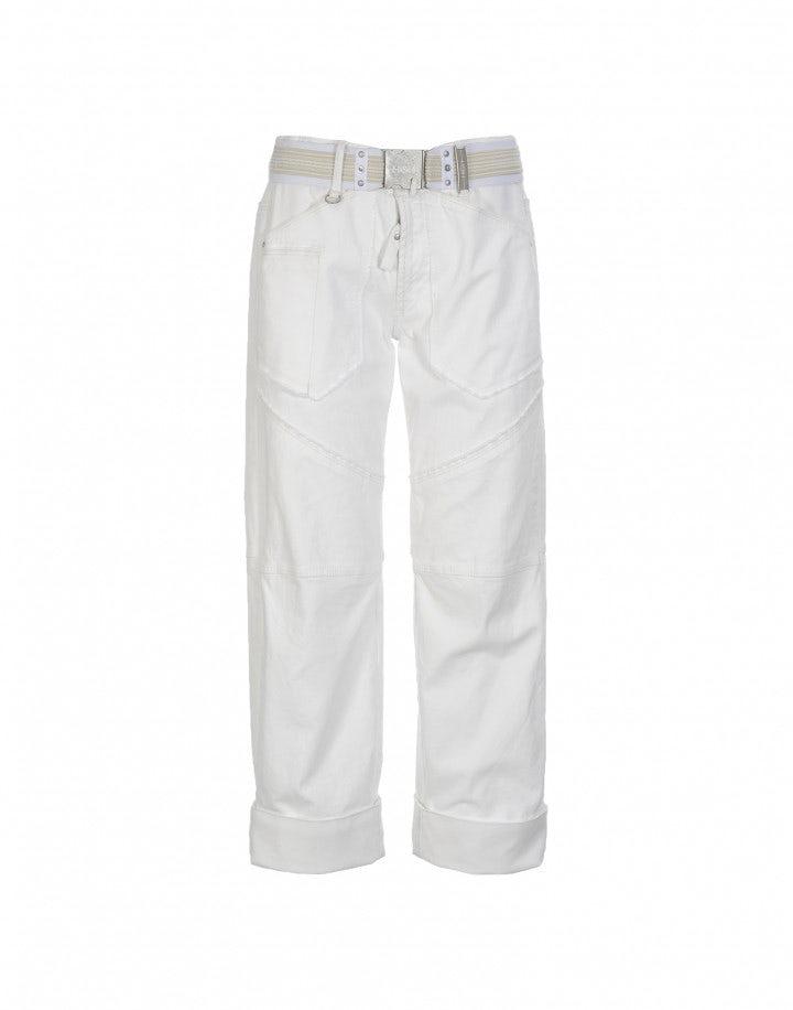 GO-AHEAD: Jeans-culottes con bordi sfrangiati