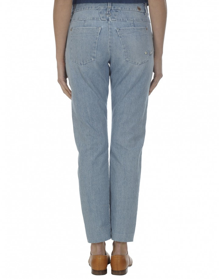 """NAIF: Jeans """"double bleach"""" con gamba dritta"""