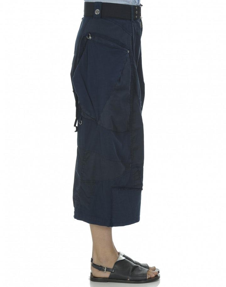GAUCHO: Culottes blu con pannelli multipli