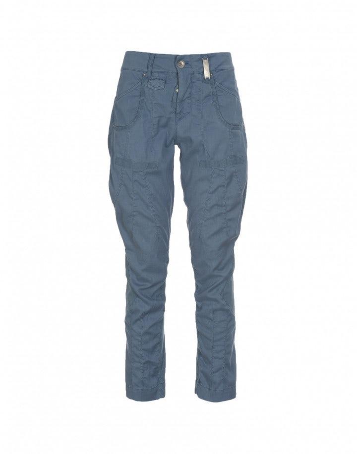 SCARPER: Pantaloni con cuciture diagonali blu oceano