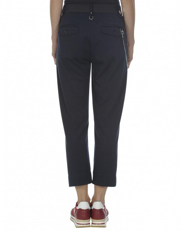 SCUDDER: Pantaloni in jersey blu alla caviglia