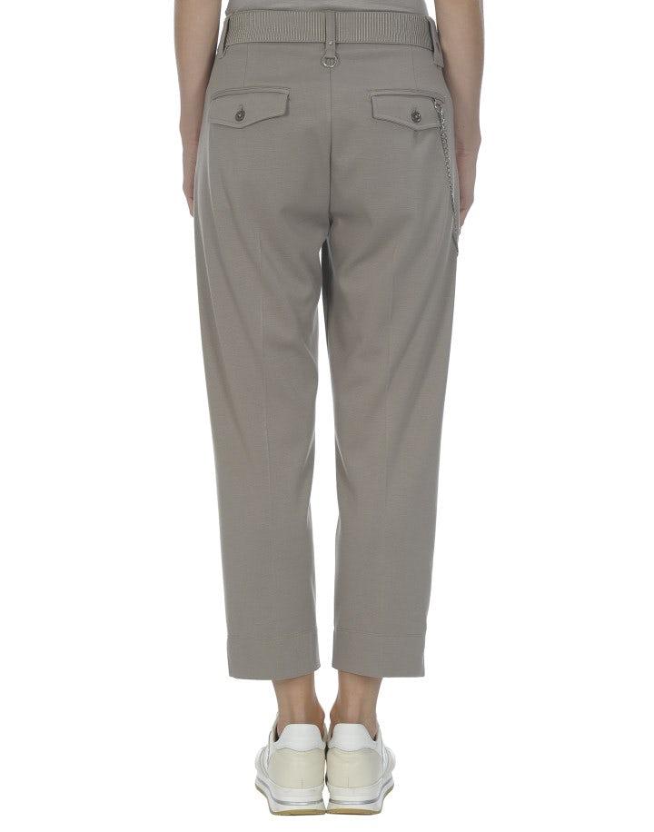 SCUDDER: Pantaloni in jersey grigio talpa alla caviglia