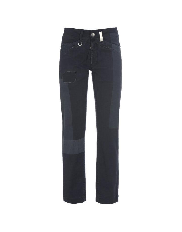 """CAPITAL: Pantaloni blu con trattamento """"laser patch"""""""