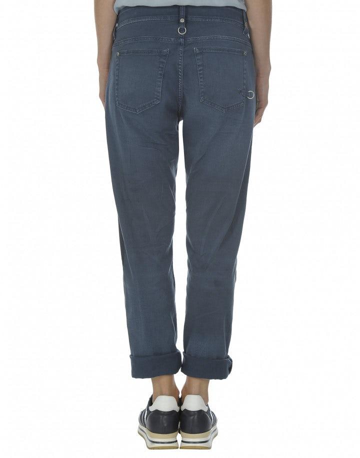 """NEW BOY: Pantaloni blu con trattamento """"colour repair"""""""