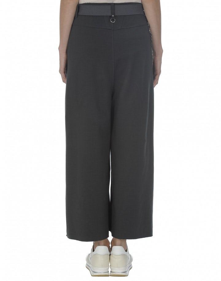 CLOSURE: Culottes in jersey grigio scuro a 3/4