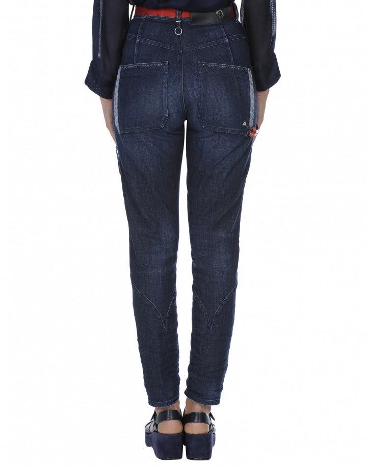 INDIE: Jeans a vita alta con tonalità irregolare