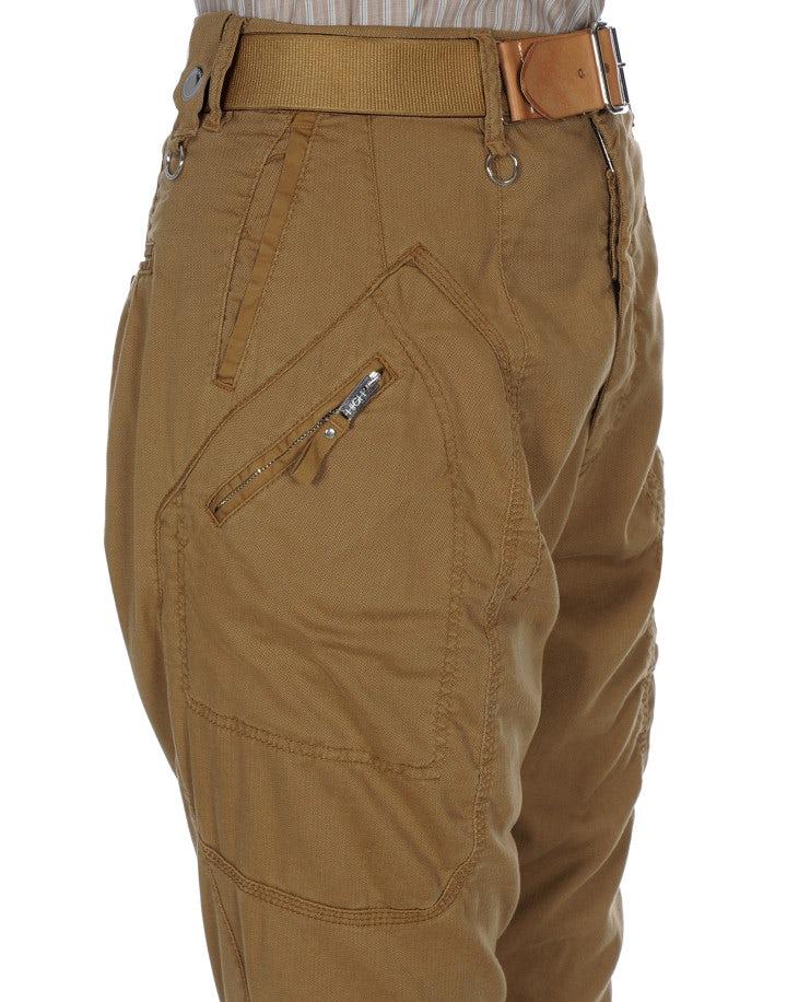 PATHFIND: Pantaloni con impunture curve