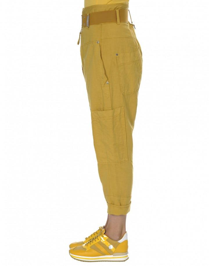 CLAMBER: Pantaloni a vita alta con zip