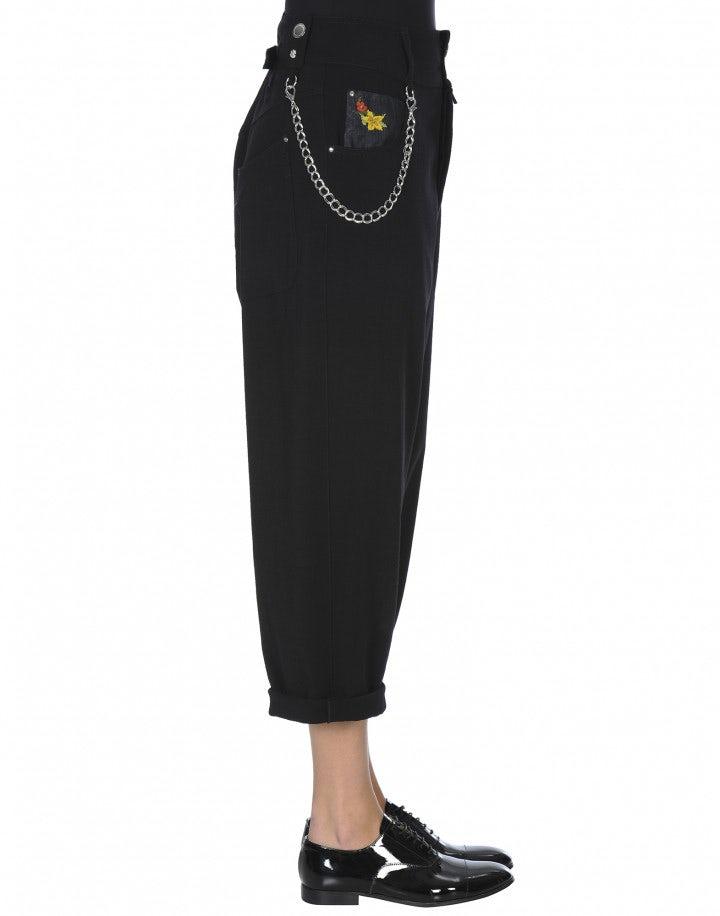 FAIR-PLAY: Pantaloni ampi a vita alta