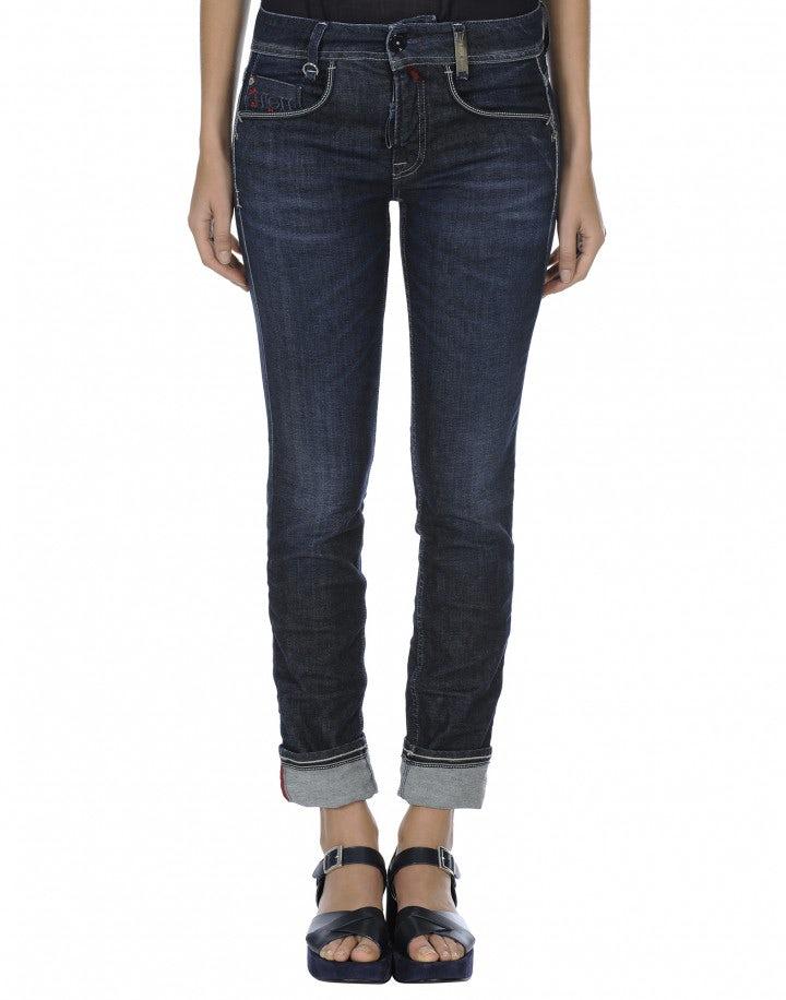 ASBY: Jeans stretch a gamba dritta