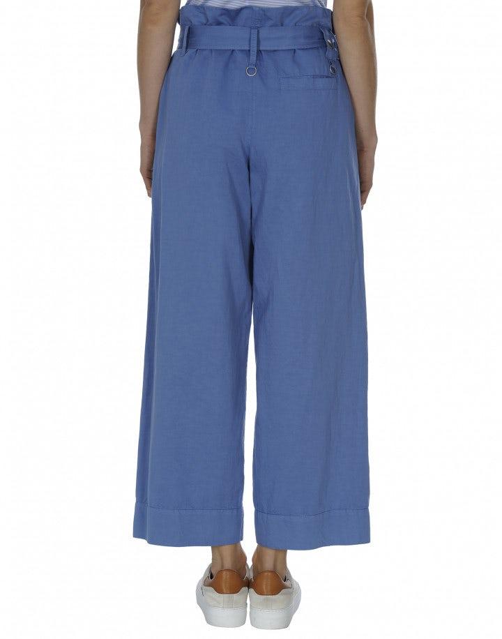 IN DEPTH: Pantaloni ampi con cintura annodabile color blu cielo