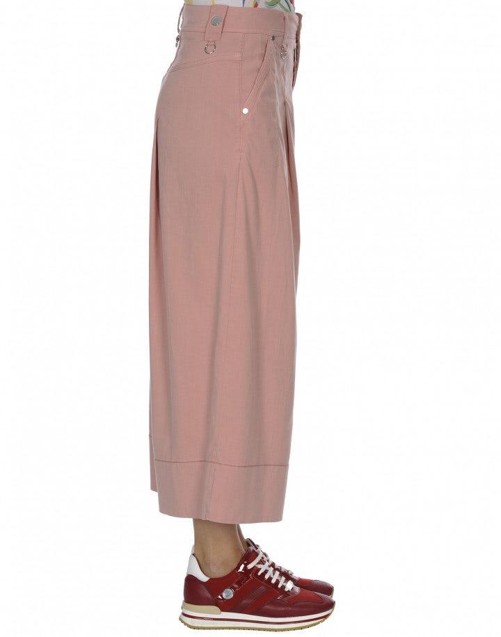 POETRY: Pantaloni rosa ampi con piega singola