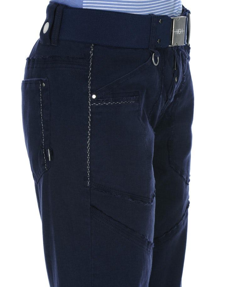 GO-AHEAD: Pantaloni ampi con pannelli sfrangiati