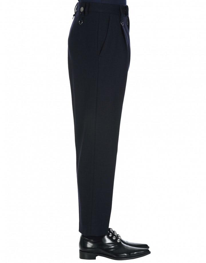 BRISK: Straight leg pant in navy wool