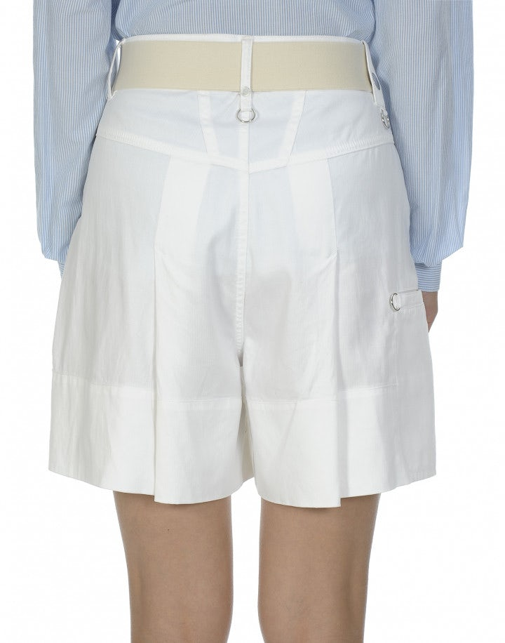 HOPSCOTCH: Bermuda bianchi con gamba ampia